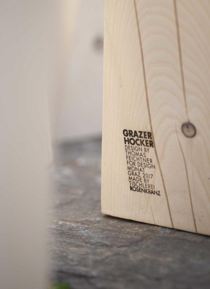 Der Grazer Hocker von Rosenkranz Design Möbel