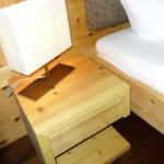 Nachtkästchen aus Zirbenholz von Rosenkranz